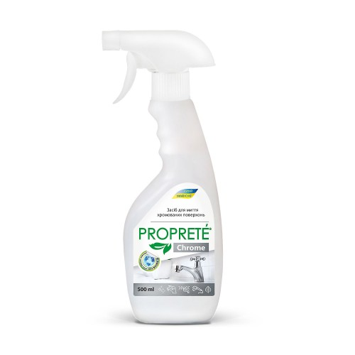 НОВИНКА !!! Средство для мытья хромированных поверхностей Proprete Chrome, 500 мл